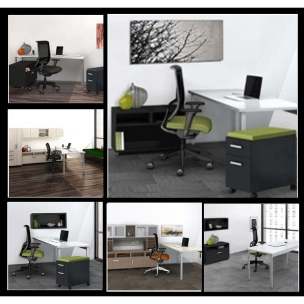 """""""Mayline e5 Series Desk Layouts"""" by ofdeals on Polyvore  Check out these cutting edge #desks from the new #Mayline #e5 collection!"""