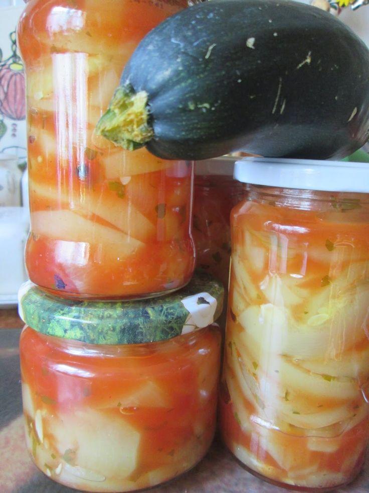 ------> Tradycyjna kuchnia <------: Cukinia w przecierze do słoików na zimę