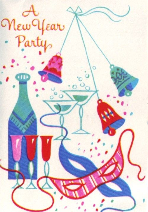 vintage invitation ringing in the new year pinterest new years eve vintage holiday and vintage greeting cards