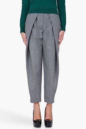 Grey Wool Pleat Pants. from Carven.  Let's redefine pleats.