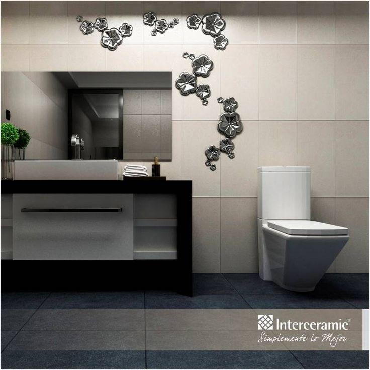 Si optas por un ba o con piso y pared en blanco y negro - Muebles para lavamanos ...