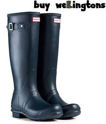 SALE Hunter Women's Original Tall Wellington Boots Ladies Hunter Wellies Navy