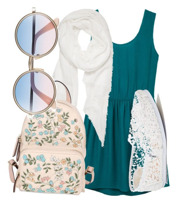 """""""Summer"""" by brainwood on Polyvore featuring MANGO, TOMS, Calvin Klein, RED Valentino and Sunday Somewhere"""