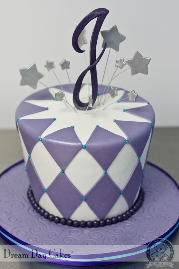 Birthday Cakes | Edible Monogram Birthday Cake | Dream Day Cakes