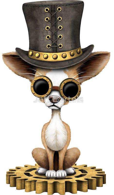 Cute Steampunk Chihuahua Puppy Dog | Jeff Bartels  – Tattoo Ideen