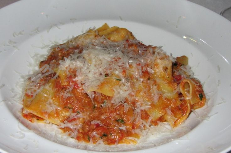 Pappardelle Bolognese from Eataly's Manzo Restaurant, NYC