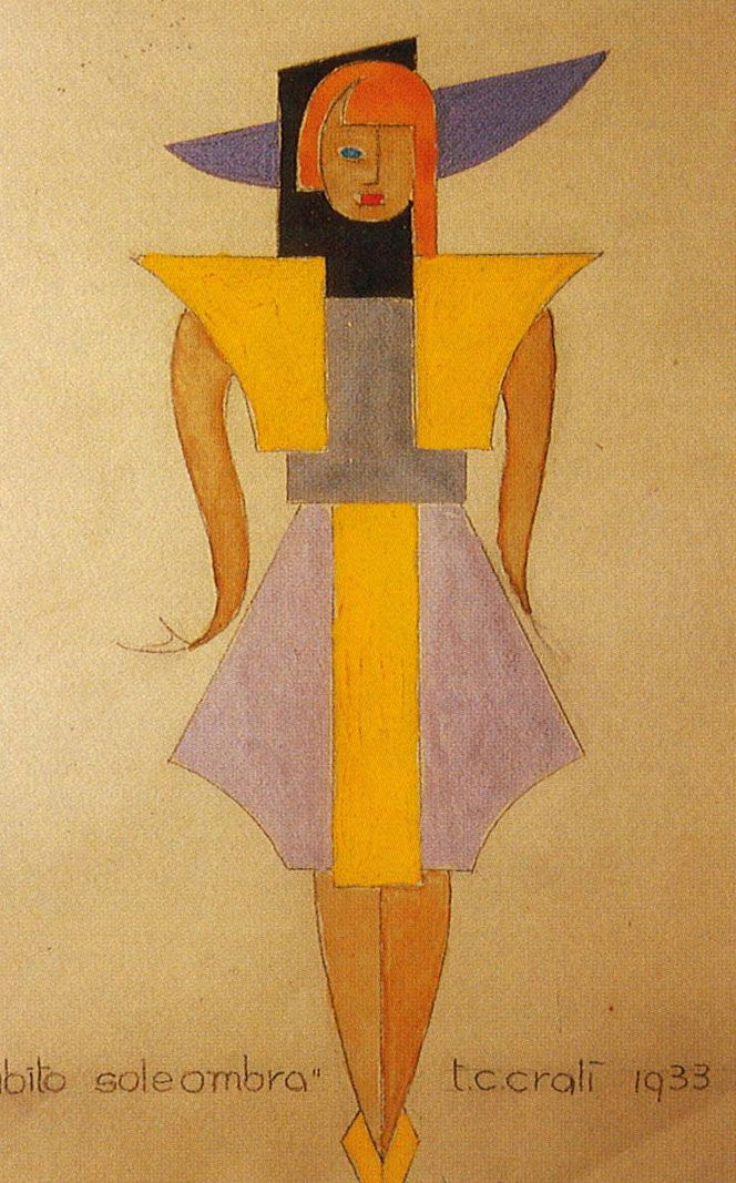 Tullio Crali's fashion drawings. www.italianways.com/tullio-cralis-future-friendly-fashion/