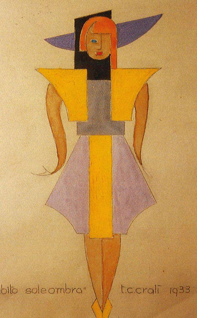 ¤ Tullio-Crali. 'Sun shadow dress, 1933. a futuristic fashion show from the past.