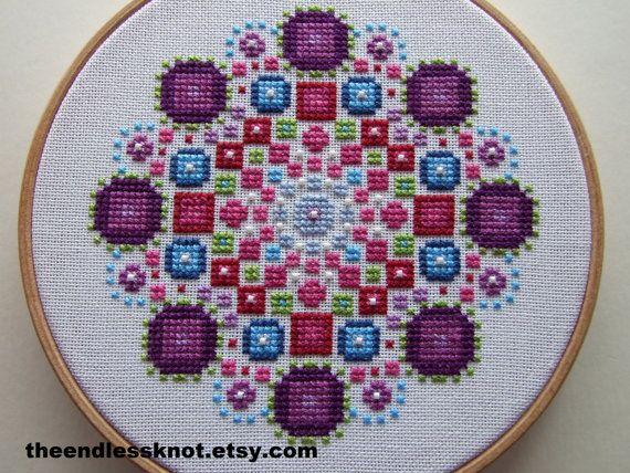 Modern Cross Stitch Chart Mandala PDF Pattern by TheEndlessKnot