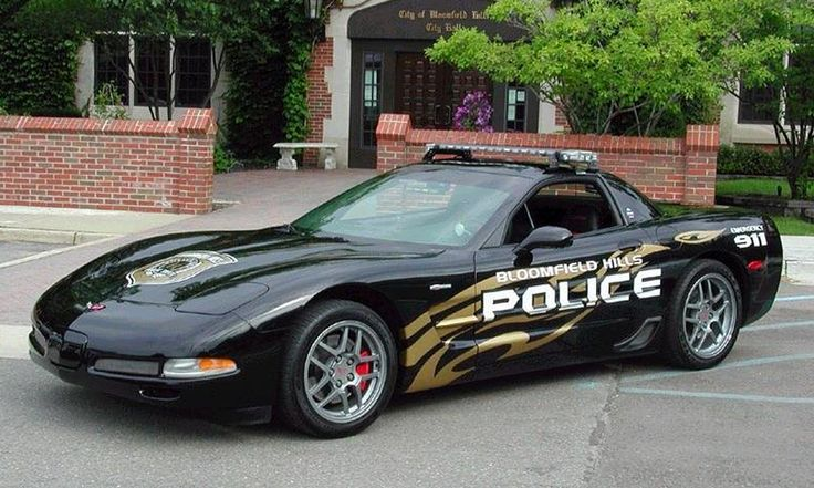 World's Most Exotic Police Cars:  The Chevrolet Corvette is a popular exotic police car because many jurisdictions use 'Vettes confiscated from drug dealers and their ilk. So if you spend any time out on the open roads of America, you might see anything from a Corvette C5 to a Z06 sporting the proper array of lights and sirens to give chase.