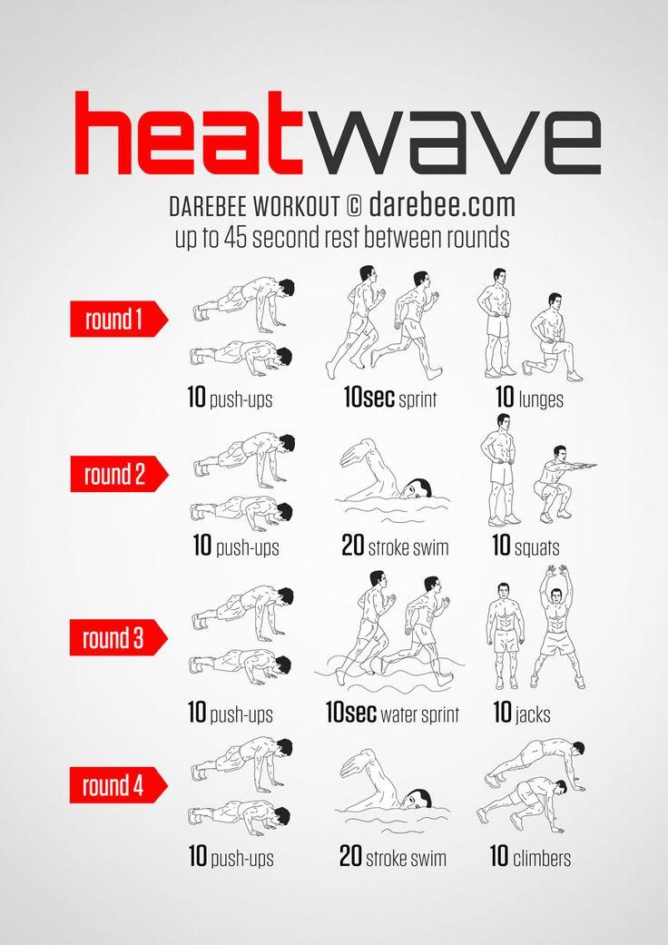 Summer / Beach Workout Download High Resolution .PDF poster
