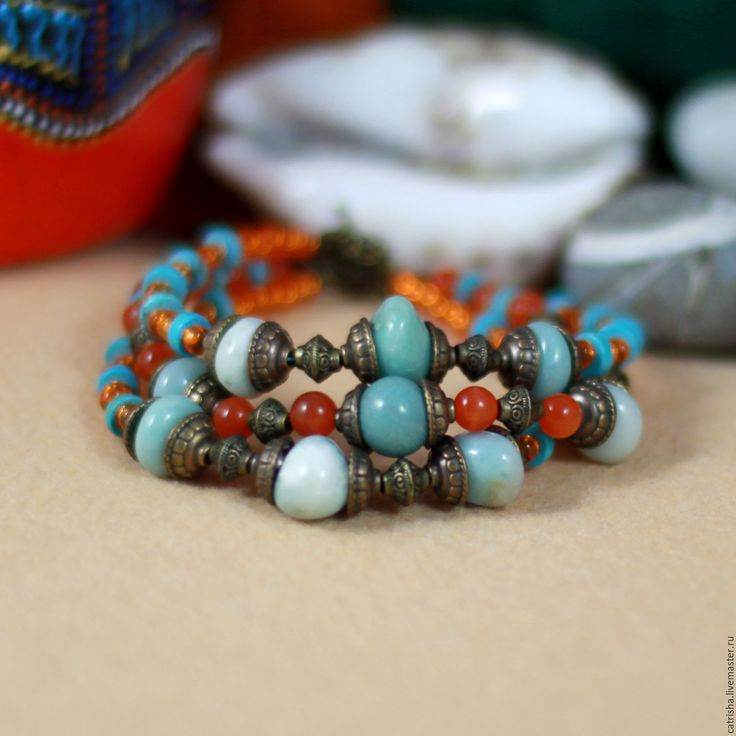 Купить Браслет Сказки Востока, браслет в восточном стиле, бирюзовый браслет - браслет в восточном стиле