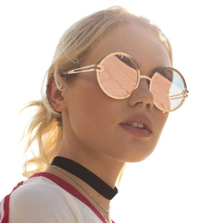 Quay Australia Ukiyo Sunglasses in Gold and Rose