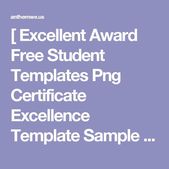 25+ parasta ideaa Pinterestissä Excellence award - example of award certificate