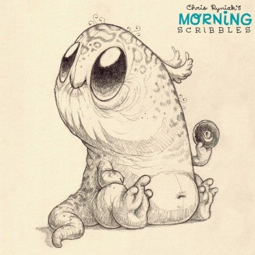 Scribble Monster Drawing : Chris ryniak s adorably cute monster drawings aliens