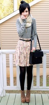 Style-ish: Should I Do It? Floral Skirt in Winter..