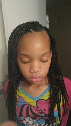 Little Girl Hairstyl #littlegirlboxbraids – little girl box braids – #box #Braid… – Haardesign