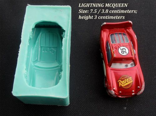 Car Molds For Cake Decorating : Silicone Mould LIGHTNING MCQUEEN Sugarcraft Cake ...