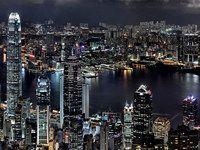 Гонконг, вид на залив Виктория