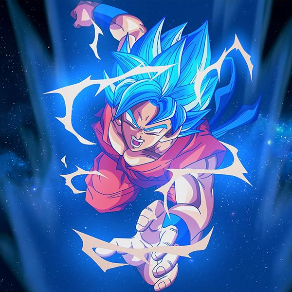 Bc54 Dragonball Goku Blue Art Illustration Anime My Dragon