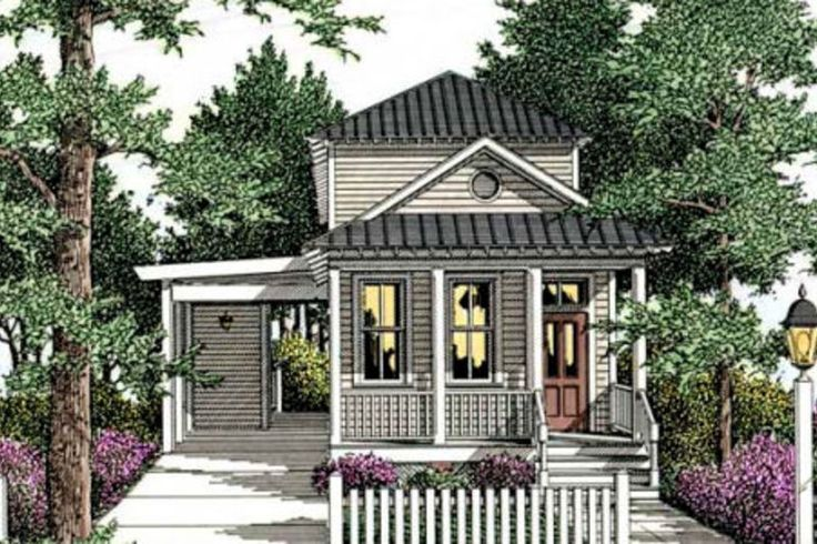 Cottage Style House Plan - 3 Beds 2.5 Baths 1587 Sq/Ft Plan #406-258 Exterior - Front Elevation - Houseplans.com