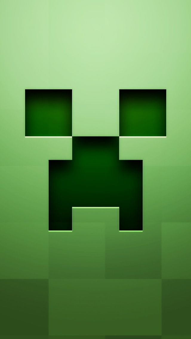 Minecraft Icon iPhone 5 Wallpaper #iPhone #wallpaper