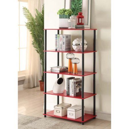 This Home Storage 5 Flat Shelving Unit Vertical Rack System Red does not require tools to assemble. They work as a storage unit.