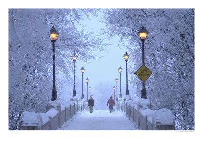 Enchanting bridge in Winnipeg, Canada
