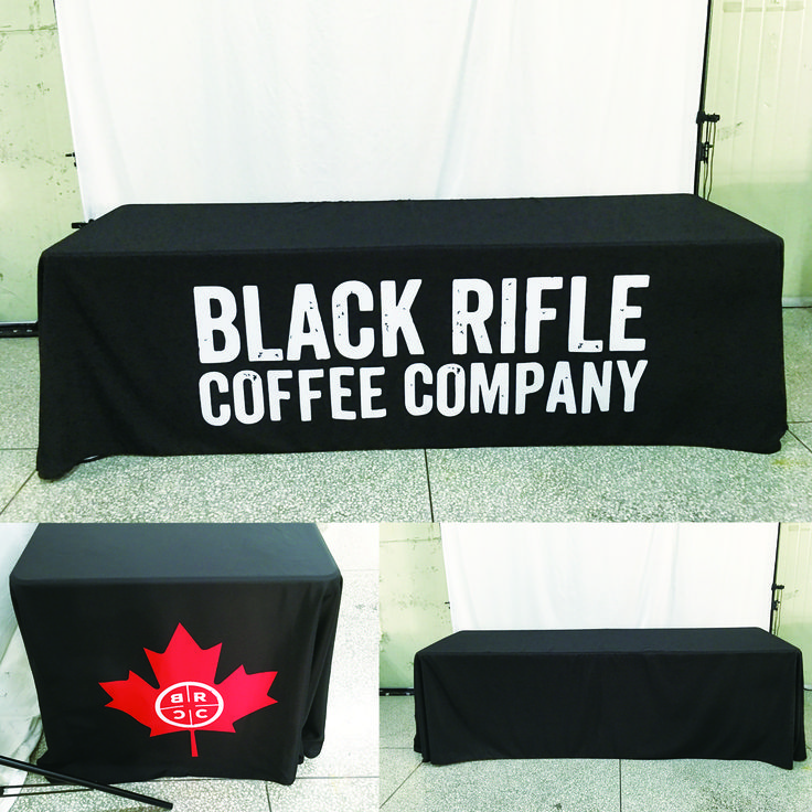 Another great print for @blackriflecoffee  #ohmyprint #tablecloth #coffee #coffeeordie #nra #freedome #customprint #printing #fabric #fabricprint
