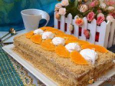 Торт без выпечки из печенья и зефира
