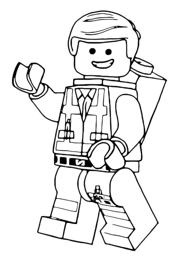 lego movie coloring page - photo #8
