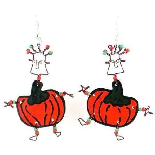 Dancing Girl Pumpkin Earrings - Creative Alternatives