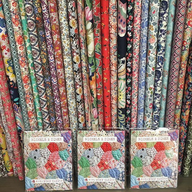 Everyday Quilts new pattern Nickles & Dimes is so gorgeous we couldnt wait to get started. A fabulous pattern for hand pieced scrappy quilt lovers. #luccellomelbourne #scrappyquilt #libertyfabric #vintagefabric #everydayquilts #nickelsanddimes