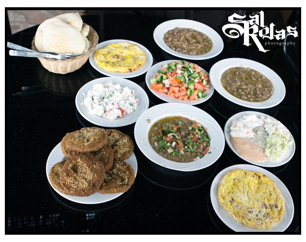 Egyptian food from Cairo.