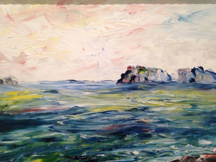 Off The Irish Coast, 1942, Jack Butler Yeats, Leeds Art Gallery