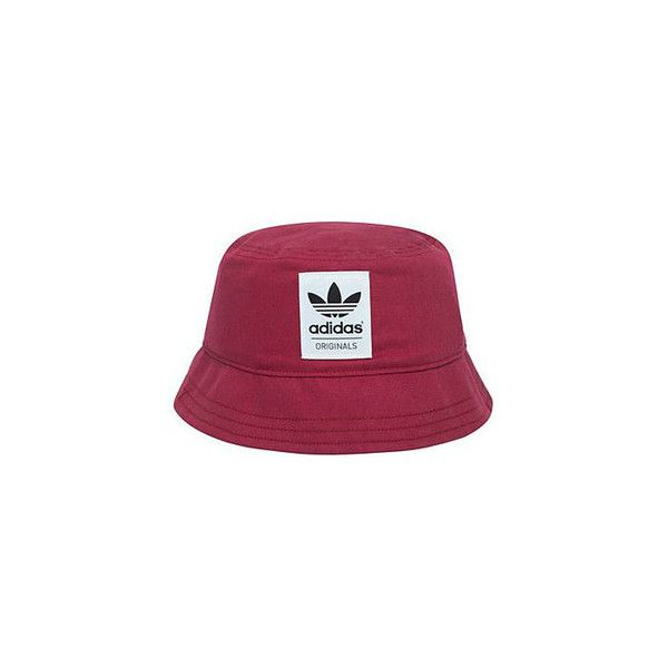 Adidas Originals Burgundy Bucket Hat ❤ liked on Polyvore featuring accessories, hats, bucket hats, headwear, jewelry/hats/glasses, adidas originals hat, fisherman hat, adidas originals and fishing hats