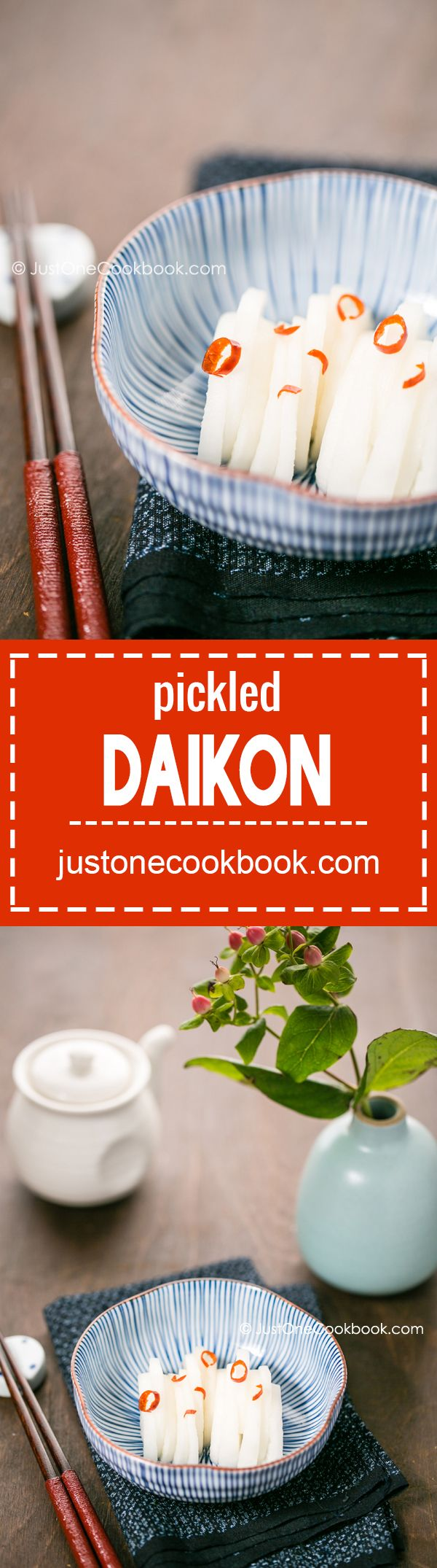 Pickled Daikon (大根の漬物) | Easy Japanese Recipes at JustOneCookbook.com