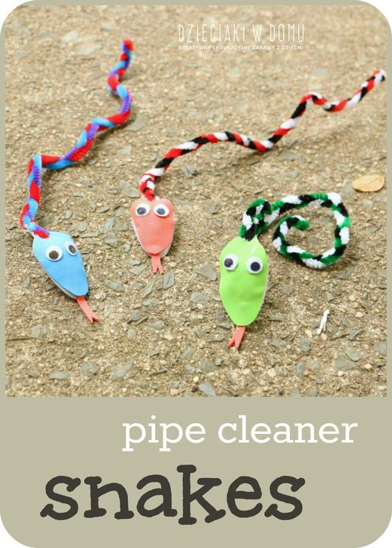 pipe cleaner snake craft for kids / węże z drucików kreatywnych
