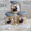 White & Pâques ... DIY : des petits pots lapins - Les p'tites décos de Lolo