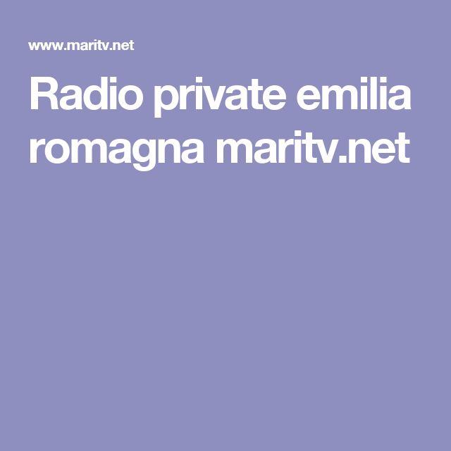 Radio private emilia romagna maritv.net