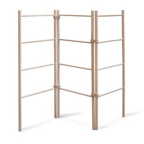 Free standing zigzag wooden clothes drying rack laundry airer