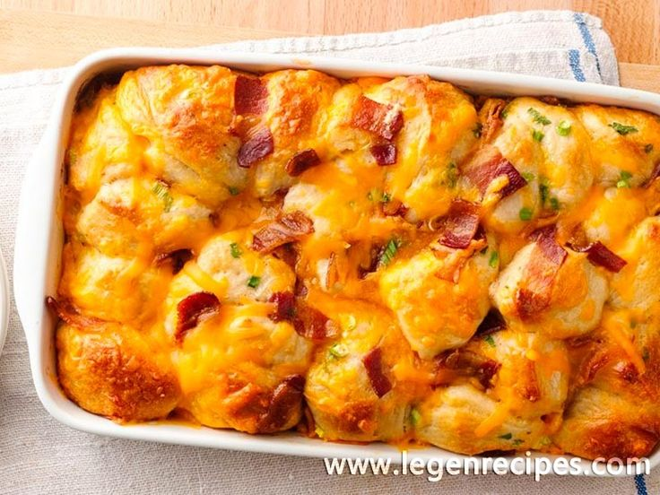 Bacon-Cheese Pull-Aparts. Every bite of this pull-apart is filled with the breakfast flavors of bacon, egg and Cheddar cheese.