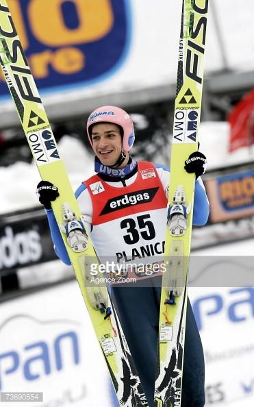 Andreas Kofler of Austria during the FIS Ski Jumping World Cup HS 215 event on March 24 2007 in Planica Slovenia