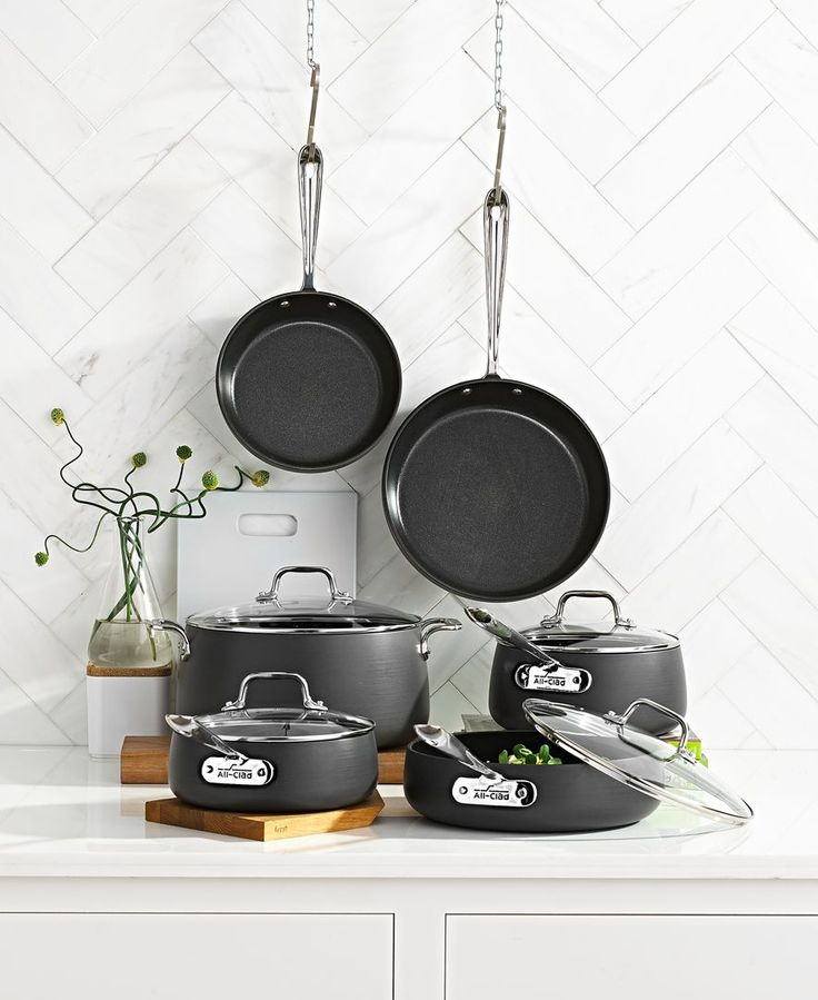 Hard Anodized 10 Piece Cookware Set 厨具 In 2019