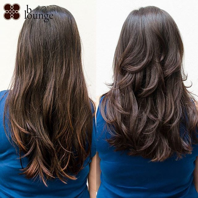 Beautiful long and thick hair of our customer bounced back to life after a classic #layering hairstyle which removes excess weight and adds volume to #long locks /// Wunderschön lange und dicke Haare von unserer Kundin wieder zurück zum Leben gebracht worden nach einem klassischen Stufenschnitt, der die Schwere wegnimmt aber Volumen zu diesen weichen Look hinzufügt #bloungevienna #longhair #layeredhair