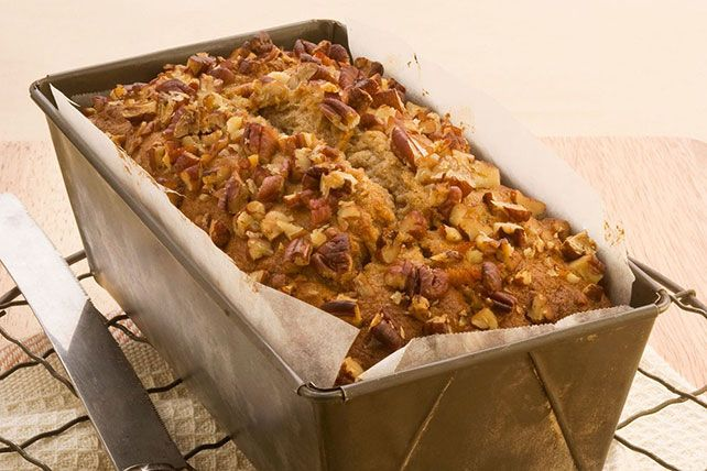 If there's one thing more exciting than taking warm banana bread out of the oven—it just might be taking a warm Maple-Pecan Banana Bread out of the oven!