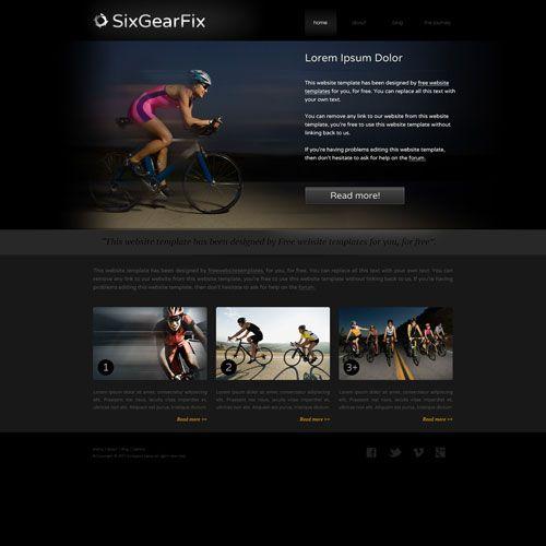 Bike Gear Website Template
