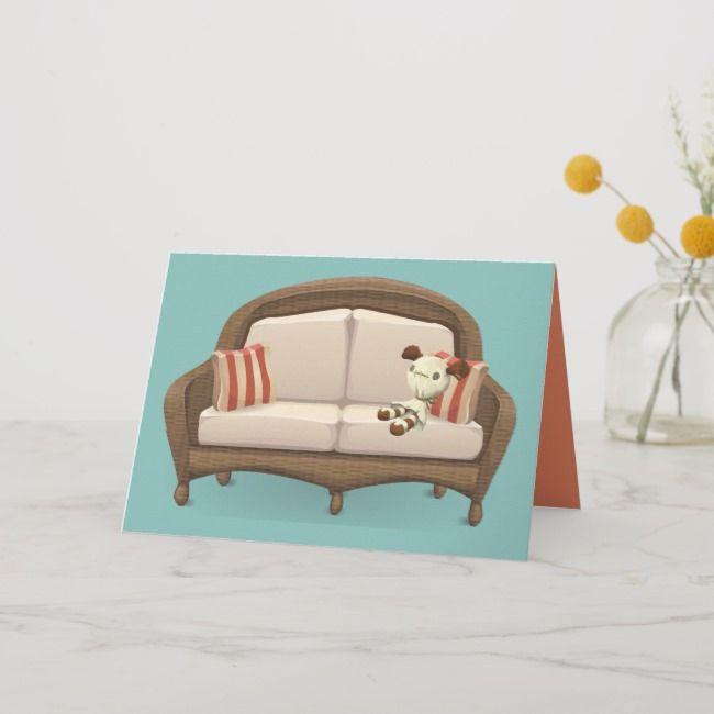 Merkwürdige kleine angefüllte Puppe, die auf Couch sitzt Grußkarte, #SPONSORED, # Sitting # Co …   – Motion Graphics Animation Inspiration