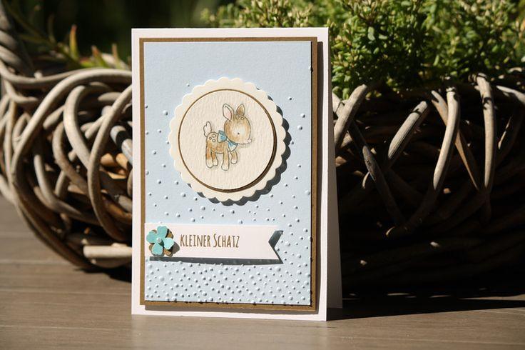 Baby- & Geburtskarten - Babykarte, Karte zur Geburt eines Jungen - ein Designerstück von Eutopia bei DaWanda
