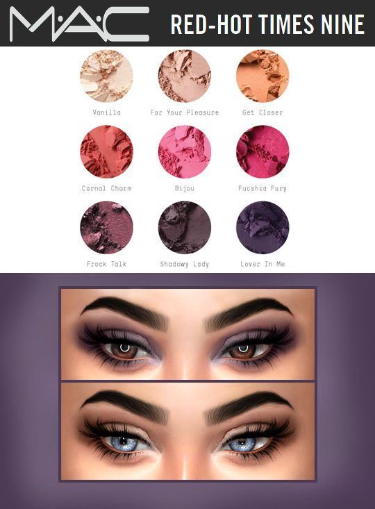 Kenzar Sims: Red-Hot Times Nine Eyeshadow • Sims 4 Downloads